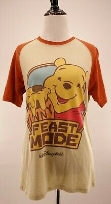 63521aa6a Disney Parks S Winnie the Pooh Feast Mode Honey Post Raglan Retro Style T- Shirt