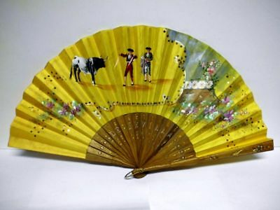 handbemalter+bestickter-Fächer-vintage-Sevilla-Spain-handpainted+embroidered fan