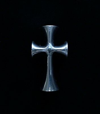 Byzantine Cross Rib very heavy Britannia Silver 958/1000 Purer than Sterling