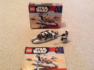 Lego Star Wars 7668 Unboxed Rebel Scout Speeder