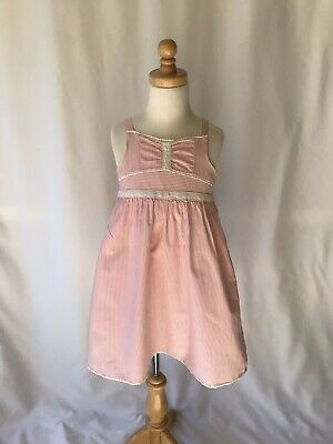 Janie & Jack Girls Striped Dress, Size 5
