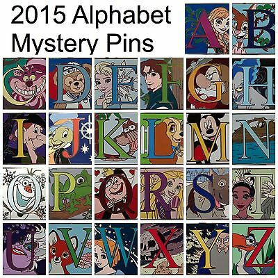 NEW 2015 Disney Parks Alphabet Letter Pin COMPLETE SET of Limited Release Pins
