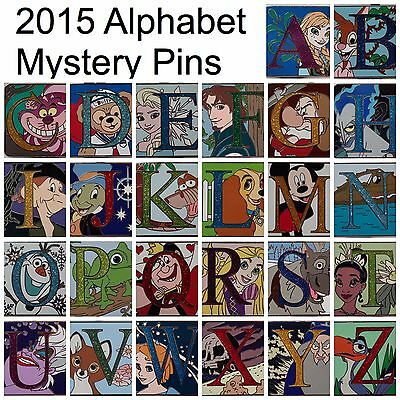NEW 2015 Disney Parks Alphabet Letter Pins COMPLETE SET of 26 CHASER PINS