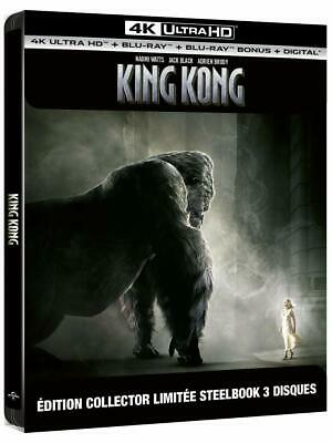 King Kong Steelbook  Blu Ray 4K Ultra Hd + Blu Ray  Neuf Sous Cellophane