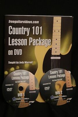 Country 101 Lesson Package on DVD Guitar Book and DVD Peter Vogl BANJO WAREHOUSE