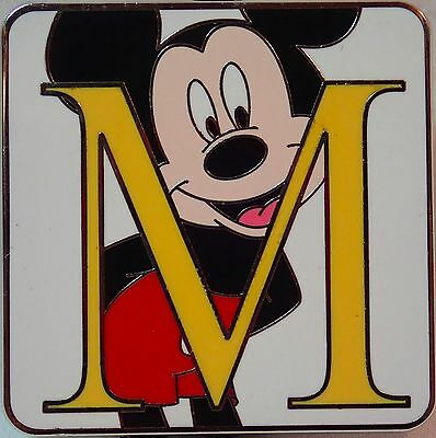 NEW 2015 Disney Parks Alphabet Mystery Set LR Trading Pin Letter M MICKEY MOUSE