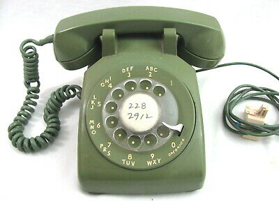 Vintage Advocado Green Rotary Phone 500 Western Electric Bell System Telephone