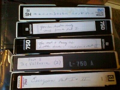 USED BLANK BETA Betamax Vhs Tapes Tv Movies Commercials