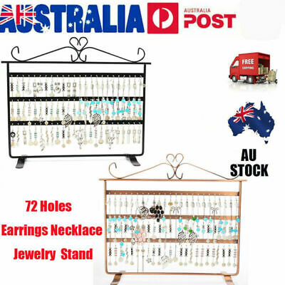 72 Holes Jewelry Necklace Ring Earring Stand Display Organizer Holder Show Rack