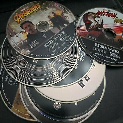 4K Blu-ray Movies DISC ONLY Avengers Spiderman Bohemian Rhapsody Mermaid It Ant