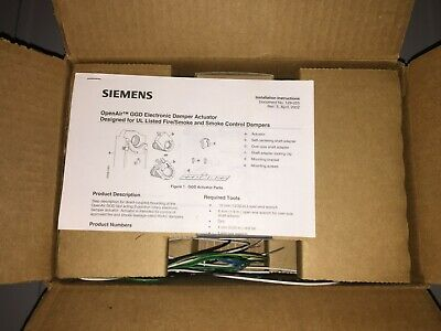 Siemens GGD221.1U Spring Return Electric Damper Open Air Actuator