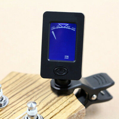 Clip-On Chromatic Digital Tuner for Acoustic Electric Guitar Violin Instrument A