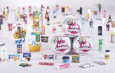 5 Surprise Mini Brands *One Ball* Made By Zuru! New! *In Hand*