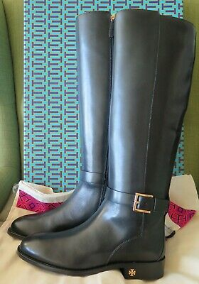dec445c6a $498 NEW TORY Burch BROOKE SLOUCHY BOOTS New Claret Leather Burgundy ...