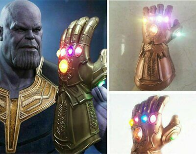 Avenge 3 Infinity War Infinity Gauntlet LED Cosplay Thanos Gloves With LED ON
