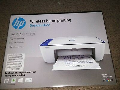 BRAND NEW HP Deskjet 2622 All in One Wireless Compact