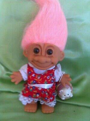 Rare Russ Troll Doll Dorothy & Toto in Basket Wizard Oz Storybook series 5 INCH