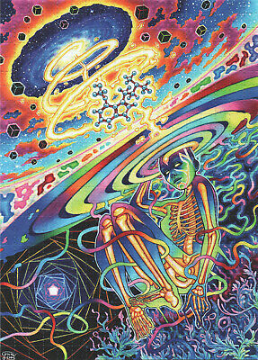 Spiral Out By Callie Fink Psychedelic Blotter Art - 450 X 8Mm Squares Trippy