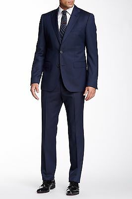 f2d98620 $895 HUGO BOSS Jewels/Linus Men's Two Button Wool Suit Dark Blue Size 38 S