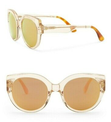 106d649a3d3 TOMS Women's Luisa 54mm Champagne Crystal Mirror Rose Oversized Round  Sunglasses