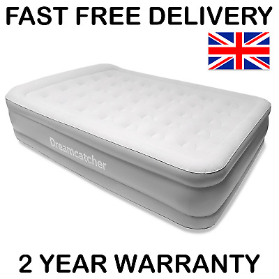 Double Blow Up Air Bed Inflatable Mattress With Built In Pump