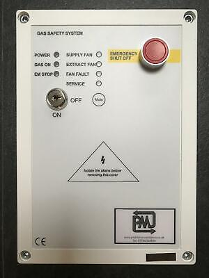 Gas Interlock Panel System CT1250 Current Monitoring for Commercial Kitchens PMJ