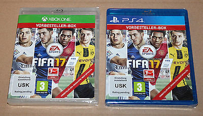 """Collectible FIFA 17 Preorder Boxes PlayStation 4 Xbox One """"NO GAME INCLUDED"""""""