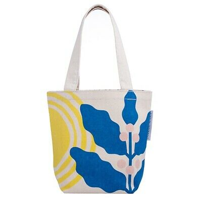 Starbucks TAIWAN Cotton Tote Bag with Coffee Cherry Blue Pink and Yellow Design