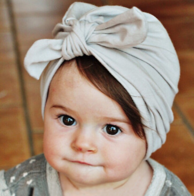 Baby Kid Princess Big Bow Ribbon Turban Knot Hat Cap head wrap Headband Hairband
