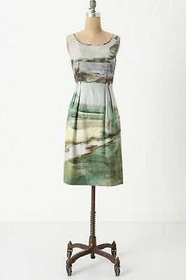 1038199b2566b Odille Anthropologie Artist's Rendering Dress Sleeveless Shift Watercolor 4