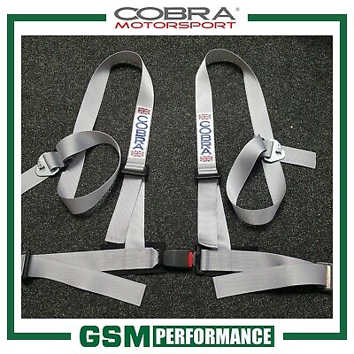 Cobra 4 Point Clubman Harness Belt - Silver