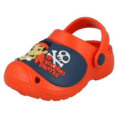 NWT OshKosh Pirates Rule Slingback Thong Shoes Flip Flops Boys Toddler Size 7-8