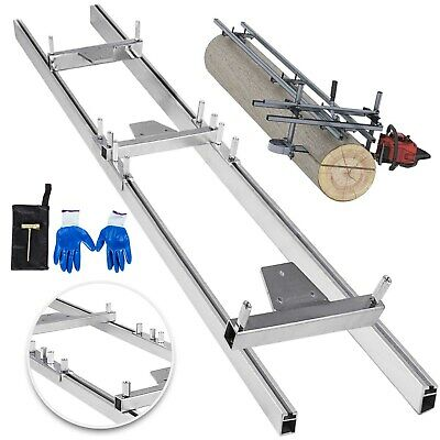 ChainsawRail Mill Guide System 9ft 1.5M 2 Reinforce 4X2.5FT Kit Combination