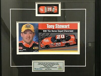 TONY STEWART Autographed Number 20 Home Depot Chevrolet Signed w COA NASCAR