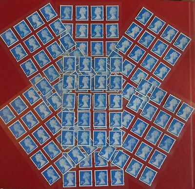 40 Blue 2nd Class Security Stamps Unfranked Off Paper WITH Lite ORIGINAL GUM