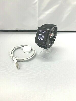 Apple Watch Series 3 42mm Space Gray Aluminum Case Black Band (GPS + Cellular)
