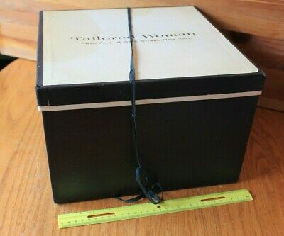 Tailored Woman 5th Ave New York Store Hat box Empty hat storage Square Vintage
