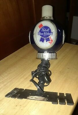 Vintage Pabst Blue Ribbon Beer Sign Wall Sconce Light Globe Lamp w Chimney