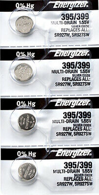 4 x Energizer 395 Watch Batteries, SR927SW or 399 Battery | Shipped from Canada