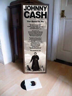 Johnny Cash The Beast In Me Promotional Poster Lyric Sheet,Ring Of Fire,Country