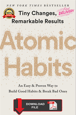 Atomic Habits by James Clear PDF (FREE DELIVERY)🔥
