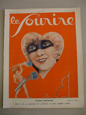 le sourire art deco fantastic magazin  februar 1930 women with mask carnaval
