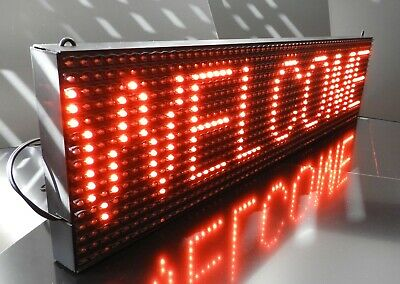 0.7M USB LED Sign Scrolling Message RED P10 Display, PC Programmable