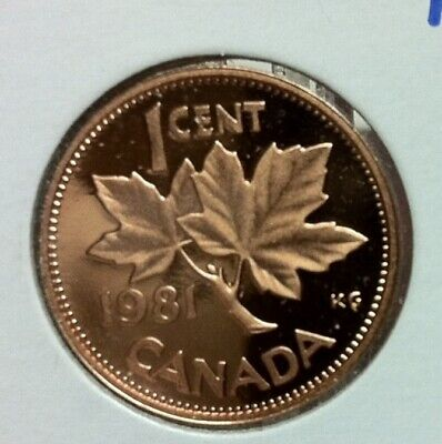 1981 to  2005  -CANADA PROOF 1¢ CENT  COINS FROM SETS - 29 YEARS - YOUR CHOICE !
