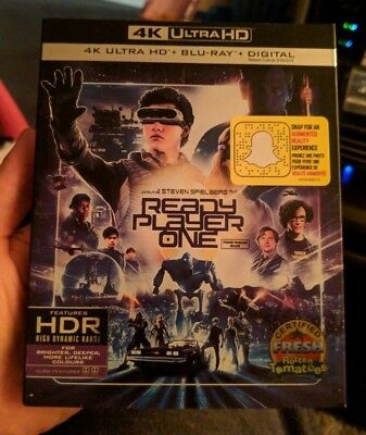 Ready Player One (Blu-ray + 4K UHD) BRAND NEW!! w/ Slipcover!!