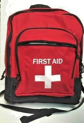 First Aid Backpack NEW Bag Camping School Outdoor Car Hiking Empty Emergency