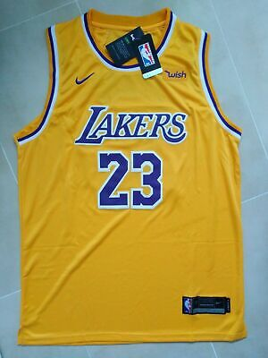 a2c49eca3a3 NBA LEBRON JAMES La Lakers #23 Swingman Jersey Retro Yellow S M L Xl ...