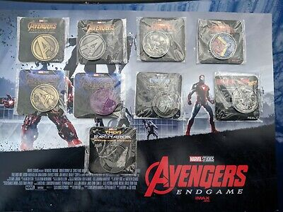 Complete Opening Night Fan Event Coin Avengers Infinity War Marvel Gold Silver