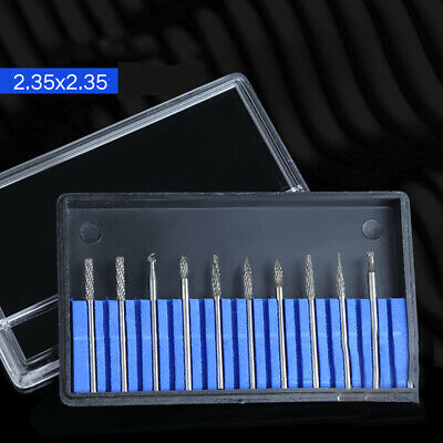 2.35X2.35mm Tungsten Steel Solid Carbide Rotary Files Milling Cutter Carving