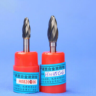 Coarse Tooth-H Tungsten Steel Solid Carbide Burrs Rotary File Milling Cutter 6mm
